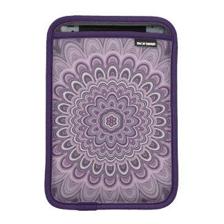 Purple floral mandala iPad mini sleeve