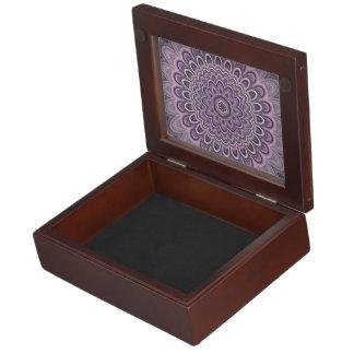 Purple floral mandala keepsake box
