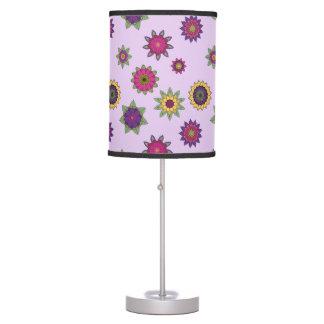 Purple Floral Mandala Lamp