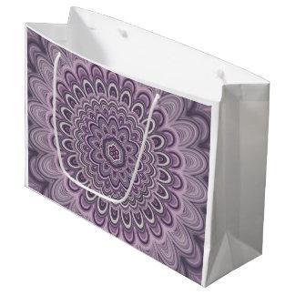 Purple floral mandala large gift bag