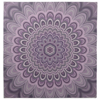 Purple floral mandala napkin