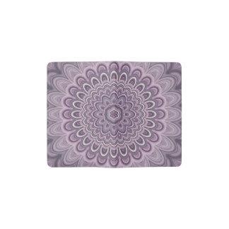 Purple floral mandala pocket moleskine notebook