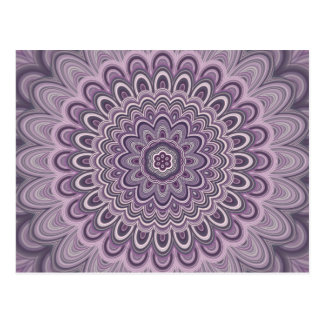 Purple floral mandala postcard