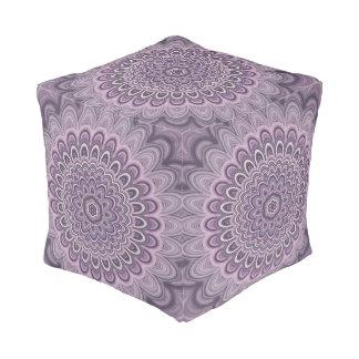 Purple floral mandala pouf