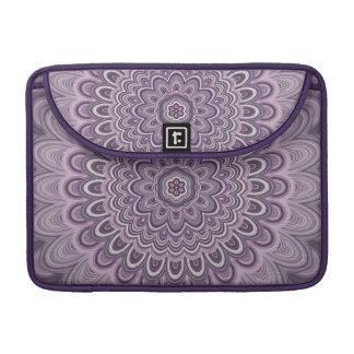 Purple floral mandala sleeve for MacBooks