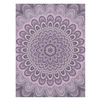 Purple floral mandala tablecloth