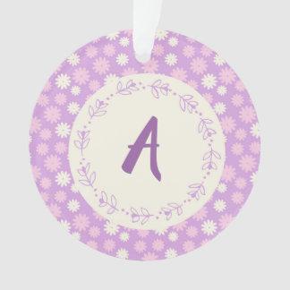 purple floral ornament