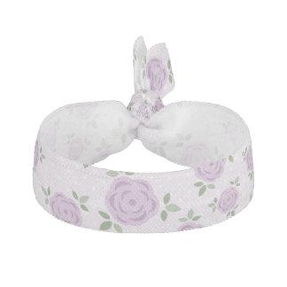 Purple Floral Pattern Hair Tie