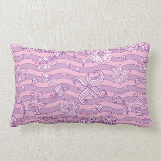 Purple floral pattern Lumbar pillow