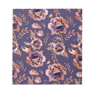 Purple Floral Pattern Notepad