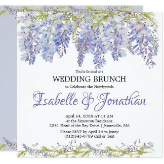 Purple Floral Post-Wedding Brunch Invitation