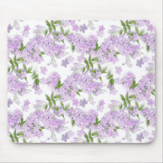 Purple Floral Sprint Mouse Pad