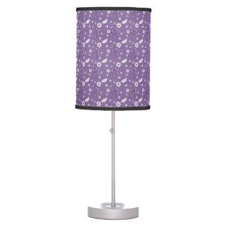 Purple Floral Table Lamp