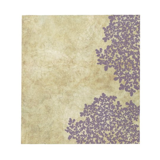 Purple Floral Vintage Notepad