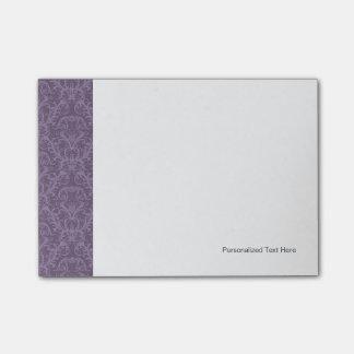 Purple floral wallpaper 2 post-it notes