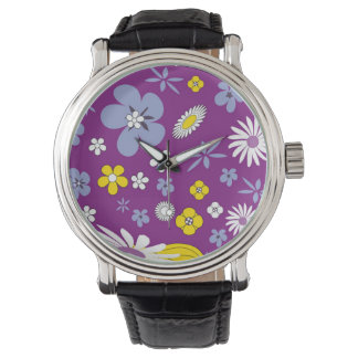 Purple Floral Watch