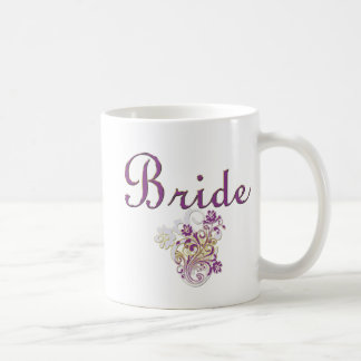 Purple Floral Wedding Invitation Set Coffee Mugs