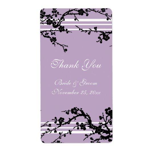 Purple Floral Wedding Labels