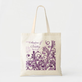 Purple Floral Wedding Welcome Bag