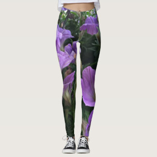 Purple Floral Yoga Pants