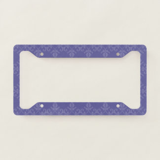 Purple Florish License Plate Frame
