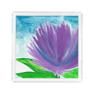 Purple Flower 1 Acrylic Tray