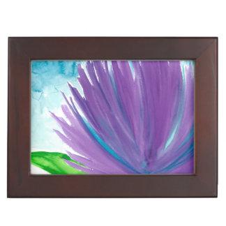 Purple Flower 1 Keepsake Box