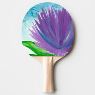 Purple Flower 1 Ping Pong Paddle