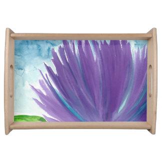 Purple Flower 1 Serving Tray