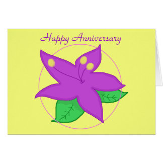 Purple Flower ANNIVERSARY CARD
