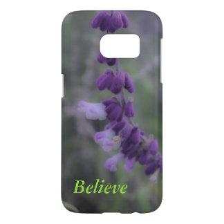 Purple Flower Believe Samsung Galaxy 7 Case