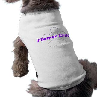 Purple Flower Child Dog Clothes