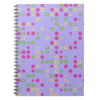 Purple Flower Confetti Notebook