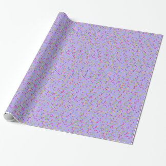 Purple Flower Confetti Wrapping Paper