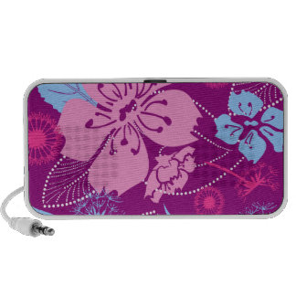 Purple Flower Doodle by OrigAudio™ Mp3 Speaker