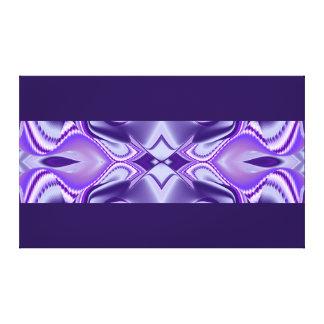 Purple Flower Dreams, Abstract Fantasy Rainbow Art Canvas Print