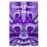 Purple Flower Dreams Wall Calendars