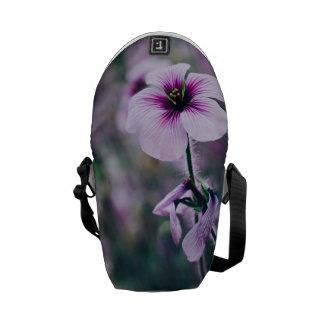 Purple Flower, Elegant Floral Photograph Messenger Bag