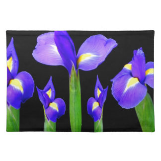 Purple Flower Floral Bouquet Elegant Romantic gift Placemat