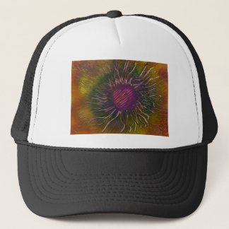 Purple Flower Head Trucker Hat