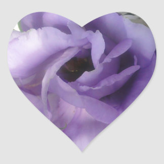 Purple Flower Heart Sticker