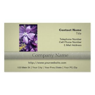 Purple Flower Illustration Business Card