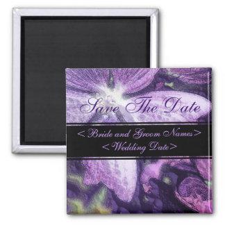 Purple Flower Illustration Wedding Magnet