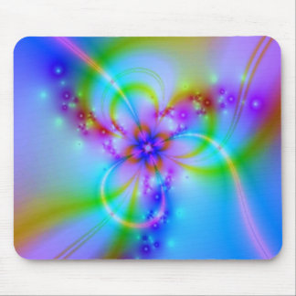 Purple Flower In Blue Mouse Pad