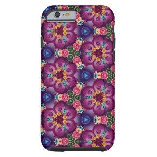 Purple Flower Kaleidoscope Art Modern Abstract Tough iPhone 6 Case