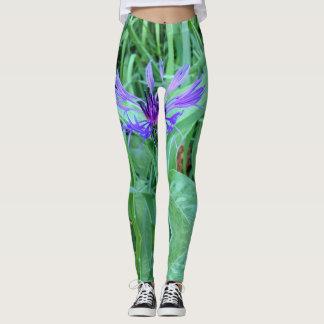 Purple flower leggings