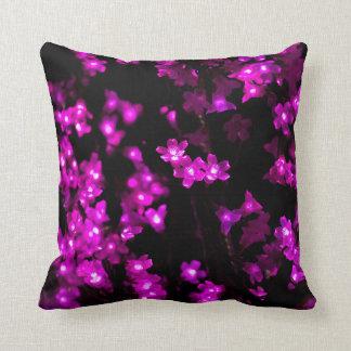 Purple Flower Lights Pillows