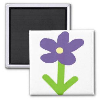 Purple Flower Magnet