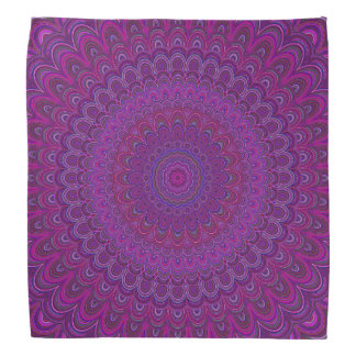 Purple flower mandala bandana