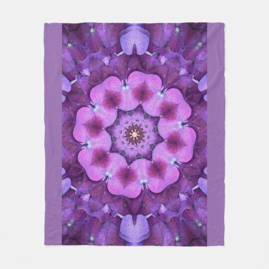 Purple Flower Mandala by SeaAngeL12 Fleece Blanket